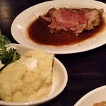 PRIME RIB, Mashed Potatoes, Spinach - YUM!