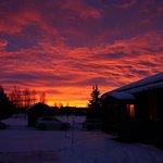 Romantischer Sonnenaufgang über Knappgården - Ortzeit: 10 Uhr