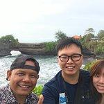 Tanah Lot. Photo of us and Suryanto