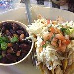 Fish Taco Plate - no, no to hard shell fish taco