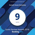 Ganesh house Guest Review Award 2016