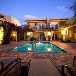 Pool Courtyard in the evening