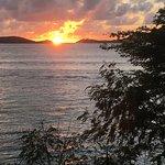 Sunset over Frank Bay