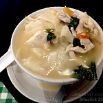 Thentuk - hand pulled flat noodles soup