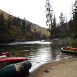 Shoreline activities are in abundance on the Middle Fork