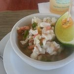 Conch soup! This was to die for