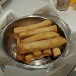 Giant fries that come with the Steak