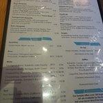 Beverage menu at Maya in Sonoma.