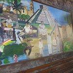 Mural inside Maya in Sonoma.