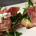 Prosciutto and goat's cheese crostinis