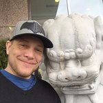 I loved the foo dog statues out front and took a photo with one :)