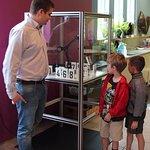 Hudson the Robotic Clock he built at the Okanagan Science Centre.