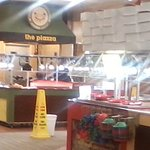 Breakfast buffet area. Hours on Weekends: 0730-1045 hrs