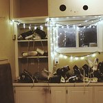 provide skates in cute little house that is so cozy