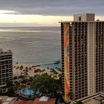 View from balcony - Rainbow Tower and Waikiki Beach