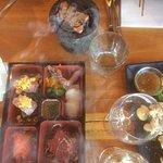 Ishyaki hot rock and Sashimi Bento Box