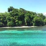 Princess Nina Aga Khan's Island, just below our hotel's overlook.