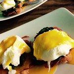Delicious, perfectly cooked eggs Benedict Florentine!