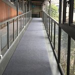 walkway which connects main building with lakeside rooms