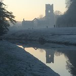 Cold and frosty at Fountains Abbey Dec 2016