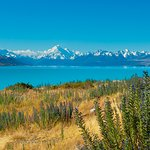 Road to Mt Cook from Lake Tekapo. This was on the way back from Mount Cook to Lake Tekapo.