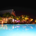 Wonderful Lighting effect in this Night view of Pool & Restaurant.