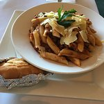 Beef and Mushroom Pasta ($12.00). This also comes with a Gluten-free option