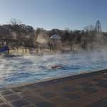 Our heated pools are heated to 29 degrees