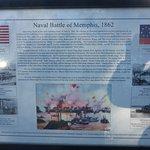 Battle of Memphis 1862 History Board