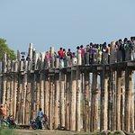 Crowd on the bridge