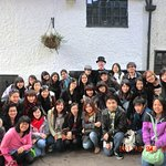 A group of visitors from Korea on the Nottingham Heroes & Villains Tour