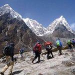 trekkers in Everest region..