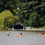 Kayaking on Glaslough Lake.