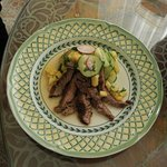 Marinated and Grilled Flank Steak with a Pineapple, Cucumber Pico