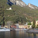 View of the lake front at Riva del Garda, near the Hotel Sole