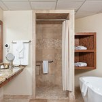 An Example of our beautiful, modern and updated bathrooms in the Lodge at Chetola