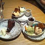Chocolate cake. Ice cream gondolas.