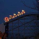 Roller coaster Santa