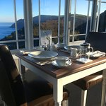 Stunning sea views from the breakfast dining room.