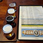 A flight sampler of beer- the best way to start your visit