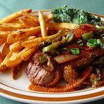 Santa Fe Steak with Beer Battered Steak Fries