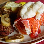Filet Mignon and Australian Rock Lobster