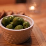 Castelvatrano olives, our fave.