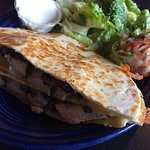 Chicken Quesadilla with Caeser Salad