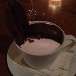 Pot de Creme - Whipped Cream, chocolate biscotti and chocolate cream