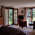 Uninterrupted forest views from your king size suite