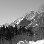 Snow shoeing to Maroon Bells