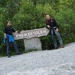 Way from hotel to Preikestolen