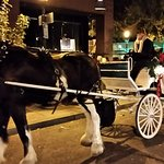 Horse drawn carraige rides are available for a fee