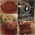 Centro is unbelievable!  The best tomato basil soup ever!  The softball size meatballs are amazi